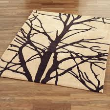 Cream Area Rugs Forest Tree Branch Area Rugs