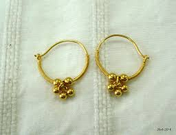 baby gold earrings traditional design 20kt gold earrings ear earrings