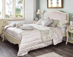 juliette shabby chic champagne upholstered king size bed 5ft