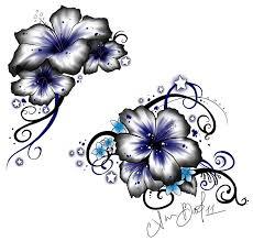 impressive hawaiian flowers tattoo design tattoo designs