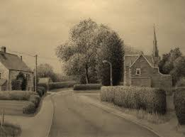 landscape pencil drawing a south leicestershire village youtube