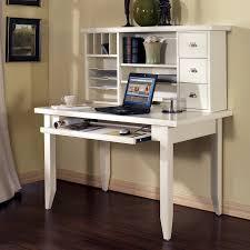 White Computer Desk With Hutch Furniture White Painted Harwood Study Computer Desk With Hutch