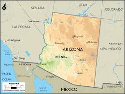 California Arizona Map by Map Of Arizona Travel Map Vacations Travelsfinders Com