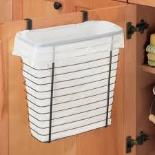 kitchen cabinet garbage can amazon com interdesign axis over the cabinet wastebasket trash