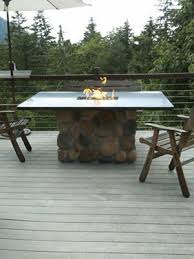 Outdoor Furniture With Fire Pit Table by Best 20 Gas Fire Pit Table Ideas On Pinterest Outdoor Fire Pit