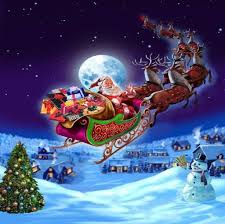 winter christmas eve santa sleigh winter wallpaper retina for hd