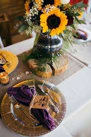 Centerpieces With Sunflowers by 55 Best Sunflower Weddings Images On Pinterest Sunflower