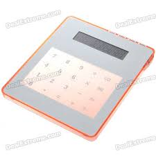 calculator hub 4 lcd 12 digit calculator mouse pad with usb 3 port hub red