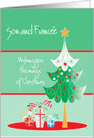 christmas cards for son u0026 fiancee from greeting card universe