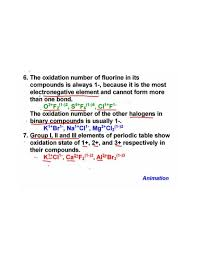 Oxidation Numbers On Periodic Table Oxidation States Or Oxidation Numbers