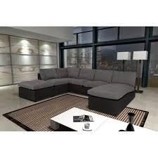 divan canapé canapé avanti gris noir 8 places modulable canapé sofa divan achat