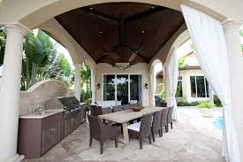 Tropical Outdoor Kitchen Designs Bbq Outdoor Kitchen Designs Patio Tropical With Tile Floor Outdoor