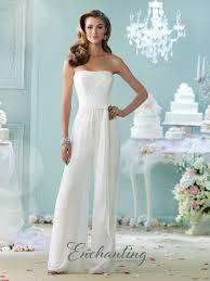 wedding dress jumpsuit enchanting by mon cheri 215103 wedding dress madamebridal