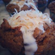 healthy whole wheat carrot coconut morning glory muffins with sour