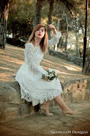 50 S Wedding Dresses Short Wedding Dress 50s Ivory Dress Sleeve Bridal Dress Open