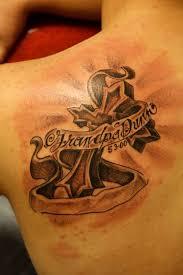 cross banner tattoo art and designs