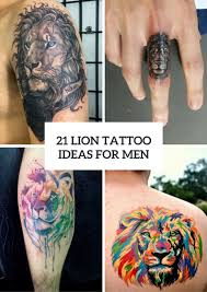 lion finger tattoos 21 gorgeous lion tattoo ideas for men styleoholic