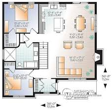 large bungalow house plans w3147 v2 transitional bungalow house plan with open floor plan