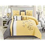 Purple Velvet Comforter Amazon Com 7 Piece Full Purple Velvet Comforter Set Home U0026 Kitchen
