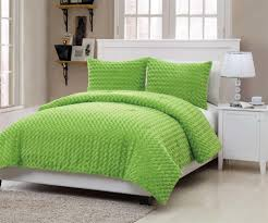 amazon com vcny rose fur 2 piece comforter set twin green home