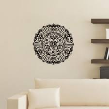 Wall Decals Mandala Ornament Indian by Mehndi Ornament Yoga Namaste Lotus Flower Wall Sticker Indian