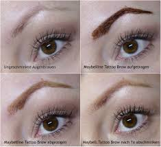 tattoo eyebrows by maybelline maybelline new york tattoo brow augenbrauenfarbe review beauty
