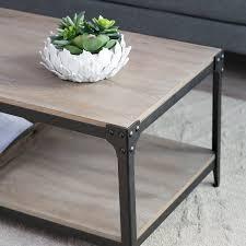 belham living trenton industrial end table amazon com belham living trenton coffee table driftwood kitchen