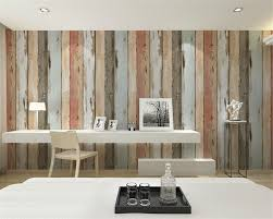 beibehang wallpaper retro nostalgic imitation wooden striped 3d