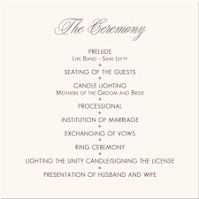 template for wedding ceremony program simple wedding program template az photos