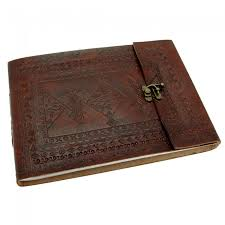 leather albums indra medium embossed leather photo album paper high