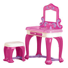 Girls Vanity Table And Stool Furniture Makeup Vanity Set Walmart Walmart Makeup Table