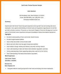 7 call center resumes letter setup