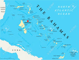 English Channel Map The Bahamas Political Map With Capital Nassau Important Cities