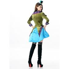 Womens Mad Hatter Halloween Costume Women U0027s Mad Hatter Alice Wonderland Costume N12599