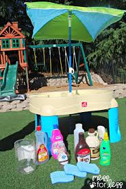 water table play props mess for less
