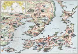 Sea Of Japan Map Cartography Old Tokyo