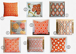 Sofa Pillows Contemporary by Home With Baxter Orange Overload Throw Pillows