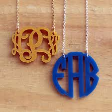 my monogram necklace floating monogram necklace my capital letters