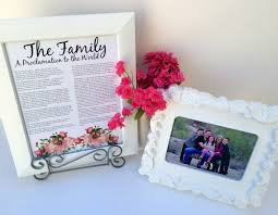 framed family proclamation marci coombs january visiting teaching handout the family