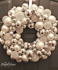ornament wreath tutorial the striped house