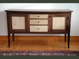 Sideboard Walnut Handmade Maple U0026 Walnut Shaker Sideboard Custom Made In Vermont