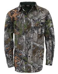 Mossy Oak Duck Blind Camo Clothing Cape Back Hunting Shirt Walls