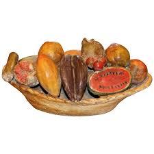 fruit centerpiece folk plaster bowl of fruit centerpiece circa 1940 at 1stdibs