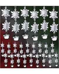 deal on 3d snowflake ornaments set of 24