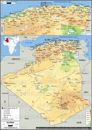 tunisia physical map geoatlas countries algeria map city illustrator fully