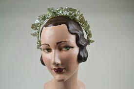 wedding headdress 1930s vintage wedding headdress with pale blue wax flowers mela