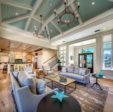 coastal livingroom wonderful open concept coastal living room with sage green vaulted