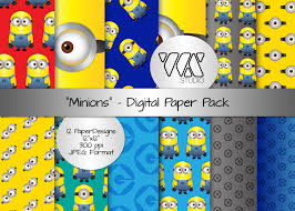 minion gift wrap original minion inspired digital paper background ideal