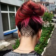 Undercut Frisuren Frau Lange Haare by Undercut Frisuren Nacken Gestalten Frauen Rote Haare Frisuren
