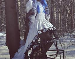 corpse wedding tattered bridal gown etsy